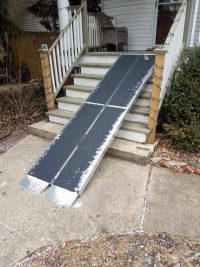 DIY wheelchair ramp